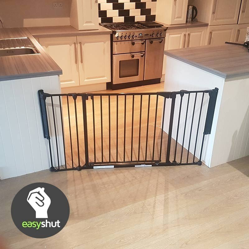 3 Panel Extra Wide Stair Gate Babasafe Ie